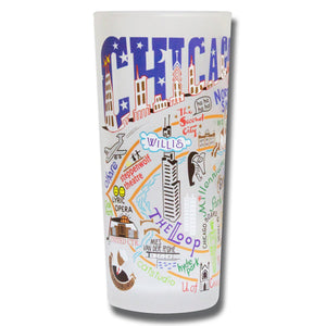 Chicago Drinking Glass - catstudio