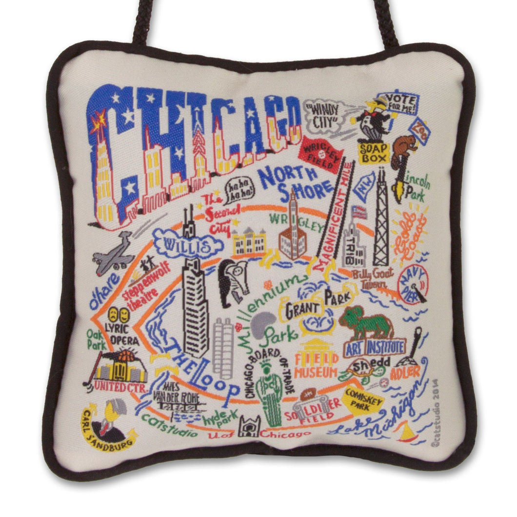Chicago Mini Pillow Ornament - catstudio