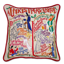 Load image into Gallery viewer, Christmas Carol Hand-Embroidered Pillow - COMING SOON Pillow catstudio