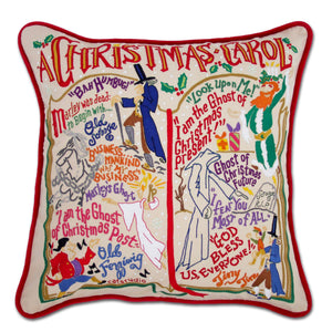 Christmas Carol Hand-Embroidered Pillow - COMING SOON Pillow catstudio