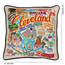 Load image into Gallery viewer, Cleveland Hand-Embroidered Pillow - catstudio