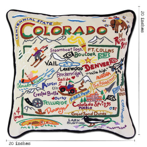 Colorado Hand-Embroidered Pillow - catstudio