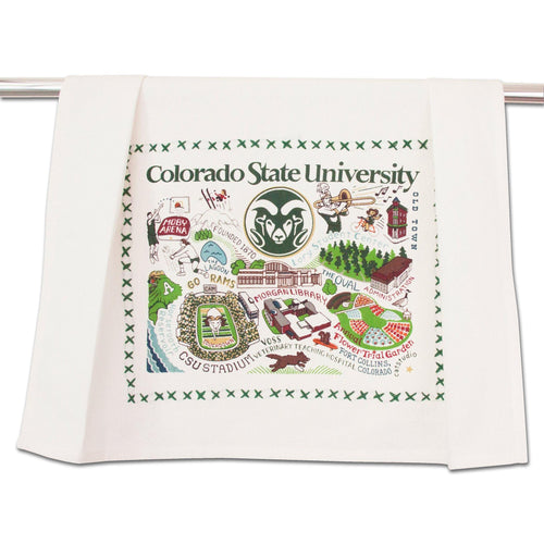 Colorado State University Collegiate Dish Towel - catstudio