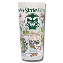 Load image into Gallery viewer, Colorado State University Collegiate Drinking Glass - catstudio