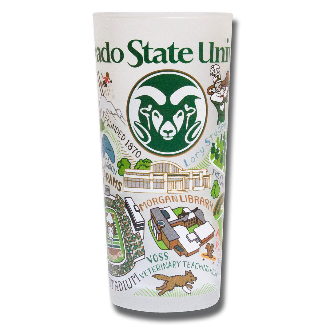 Colorado State University Collegiate Drinking Glass - catstudio
