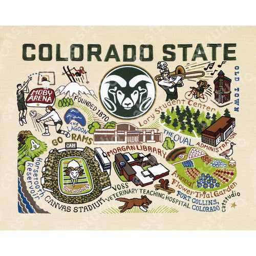 Colorado State University Collegiate Fine Art Print Art Print catstudio