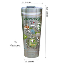 Load image into Gallery viewer, Colorado State University Collegiate Thermal Tumbler (Set of 4) - PREORDER Thermal Tumbler catstudio