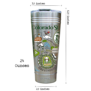 Colorado State University Collegiate Thermal Tumbler (Set of 4) - PREORDER Thermal Tumbler catstudio