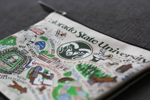 Colorado State University Collegiate Zip Pouch - catstudio
