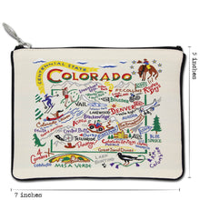 Load image into Gallery viewer, Colorado Zip Pouch - Natural - catstudio