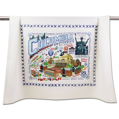 Columbia University Collegiate Dish Towel - catstudio