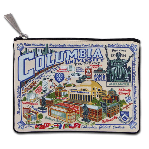 Columbia University Collegiate Zip Pouch - catstudio
