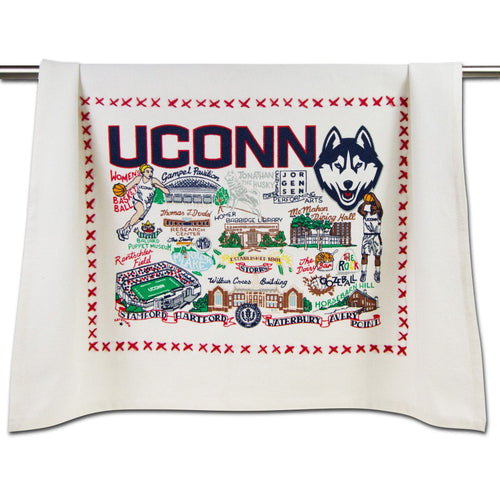Connecticut, University of Collegiate Dish Towel - catstudio