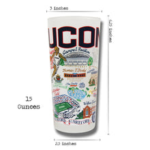 Load image into Gallery viewer, Connecticut, University of Collegiate Drinking Glass - Coming Soon! - catstudio