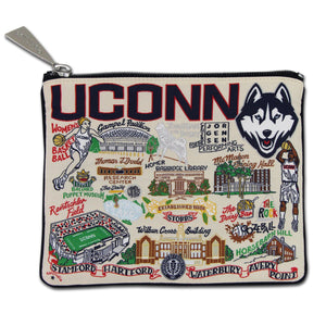 Connecticut, University of Collegiate Zip Pouch - catstudio