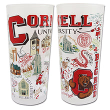Load image into Gallery viewer, Cornell University Collegiate Drinking Glass - catstudio
