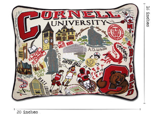 Cornell University Collegiate Embroidered Pillow - catstudio