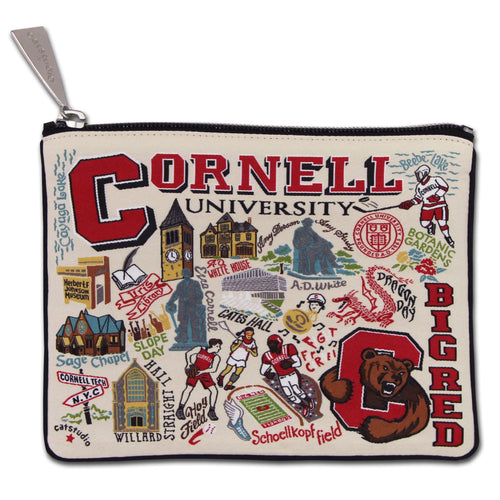 Cornell University Collegiate Zip Pouch - catstudio