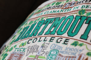 Dartmouth College Collegiate Embroidered Pillow Pillow catstudio