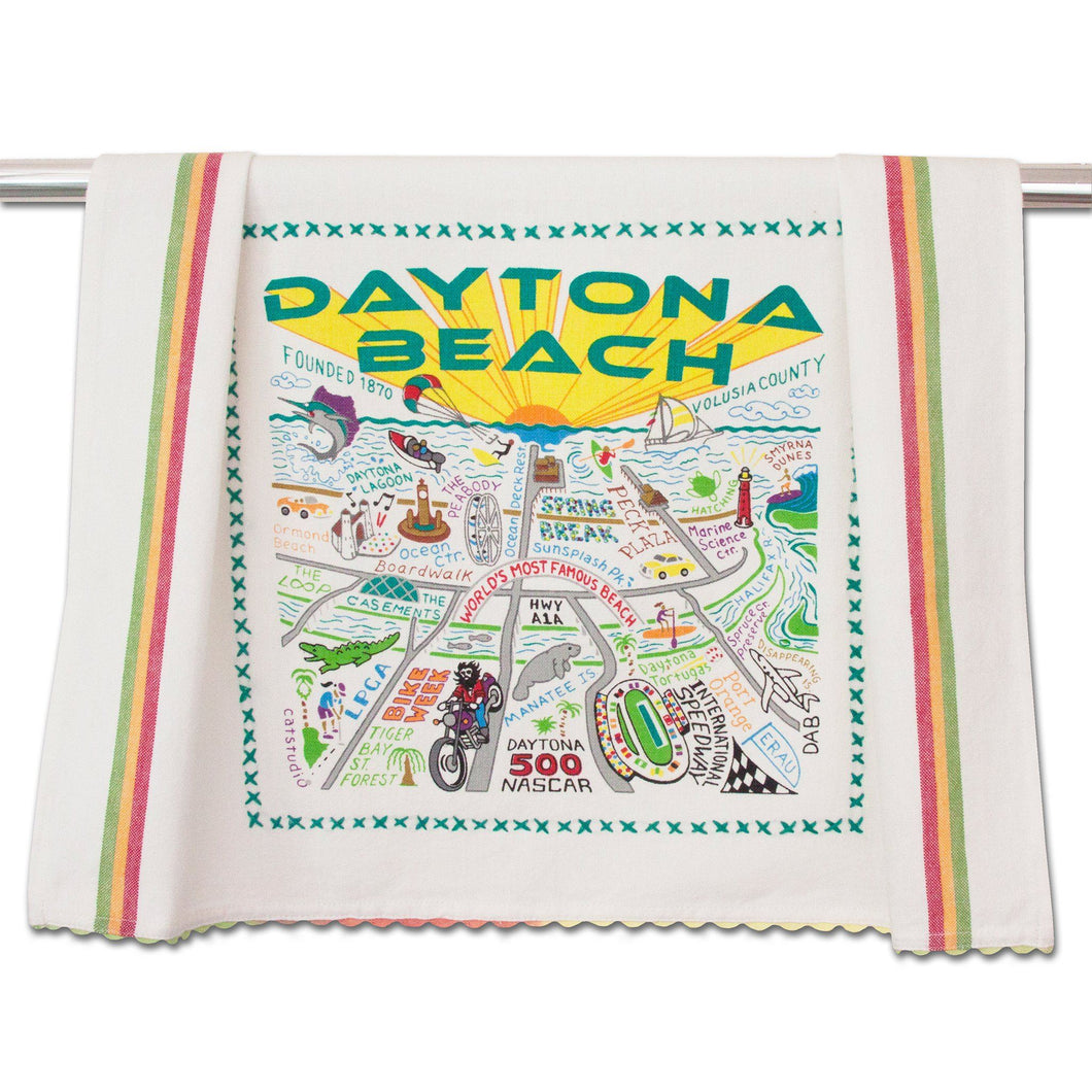 Daytona Beach Dish Towel - catstudio