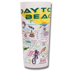 Daytona Beach Drinking Glass - catstudio