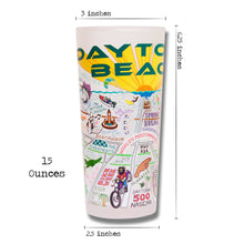 Load image into Gallery viewer, Daytona Beach Drinking Glass - catstudio