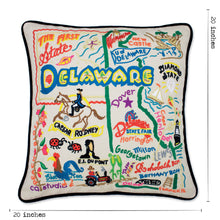 Load image into Gallery viewer, Delaware Hand-Embroidered Pillow - catstudio