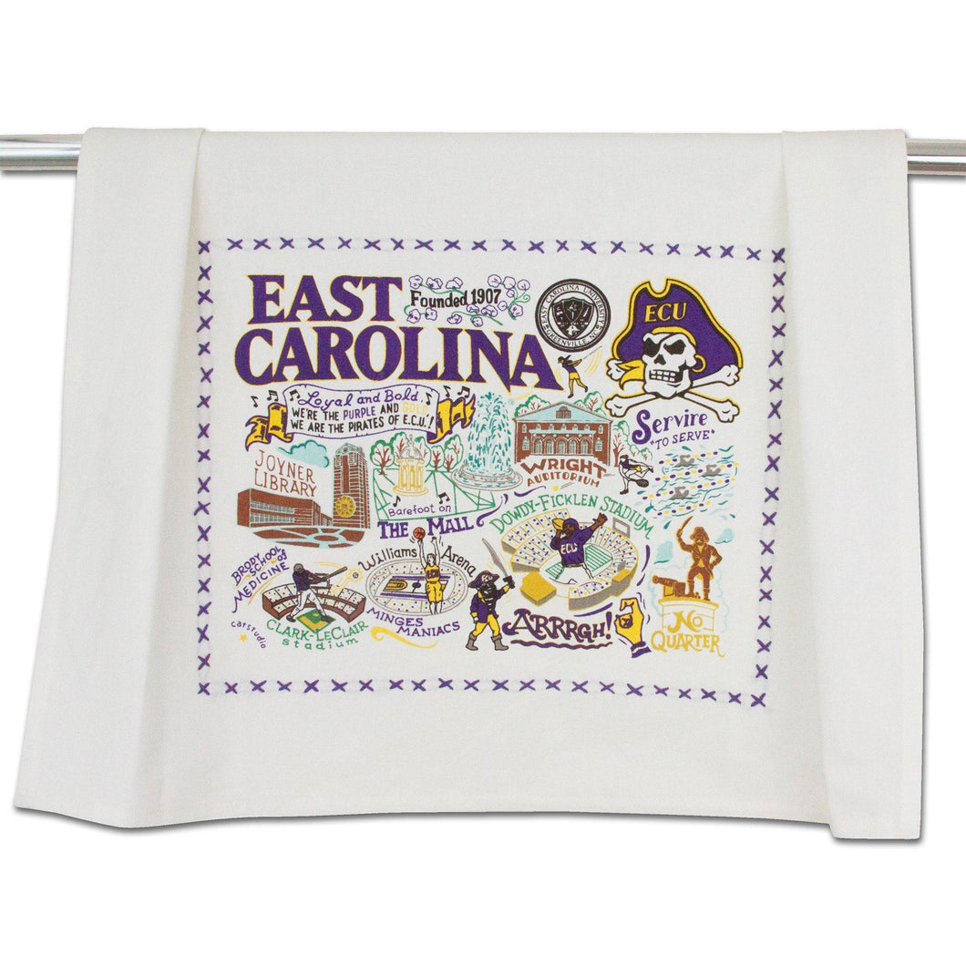 East Carolina University Collegiate Dish Towel - catstudio