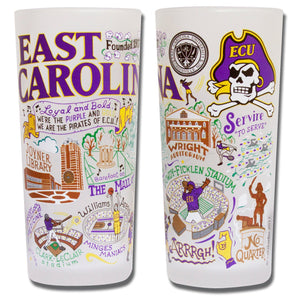 East Carolina University Collegiate Drinking Glass - catstudio