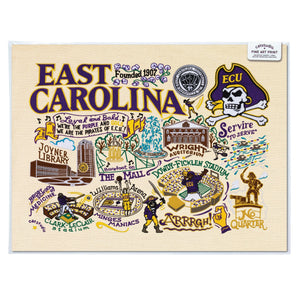 East Carolina University Collegiate Fine Art Print - catstudio