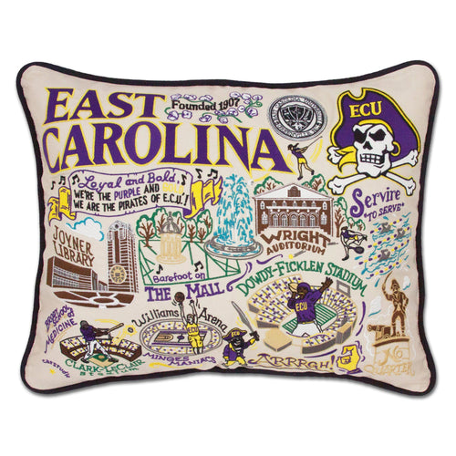 East Carolina University Collegiate Embroidered Pillow - catstudio