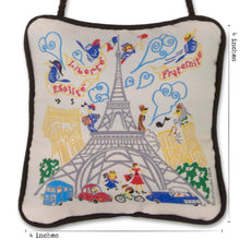 Load image into Gallery viewer, Eiffel Tower Mini Pillow Ornament - catstudio