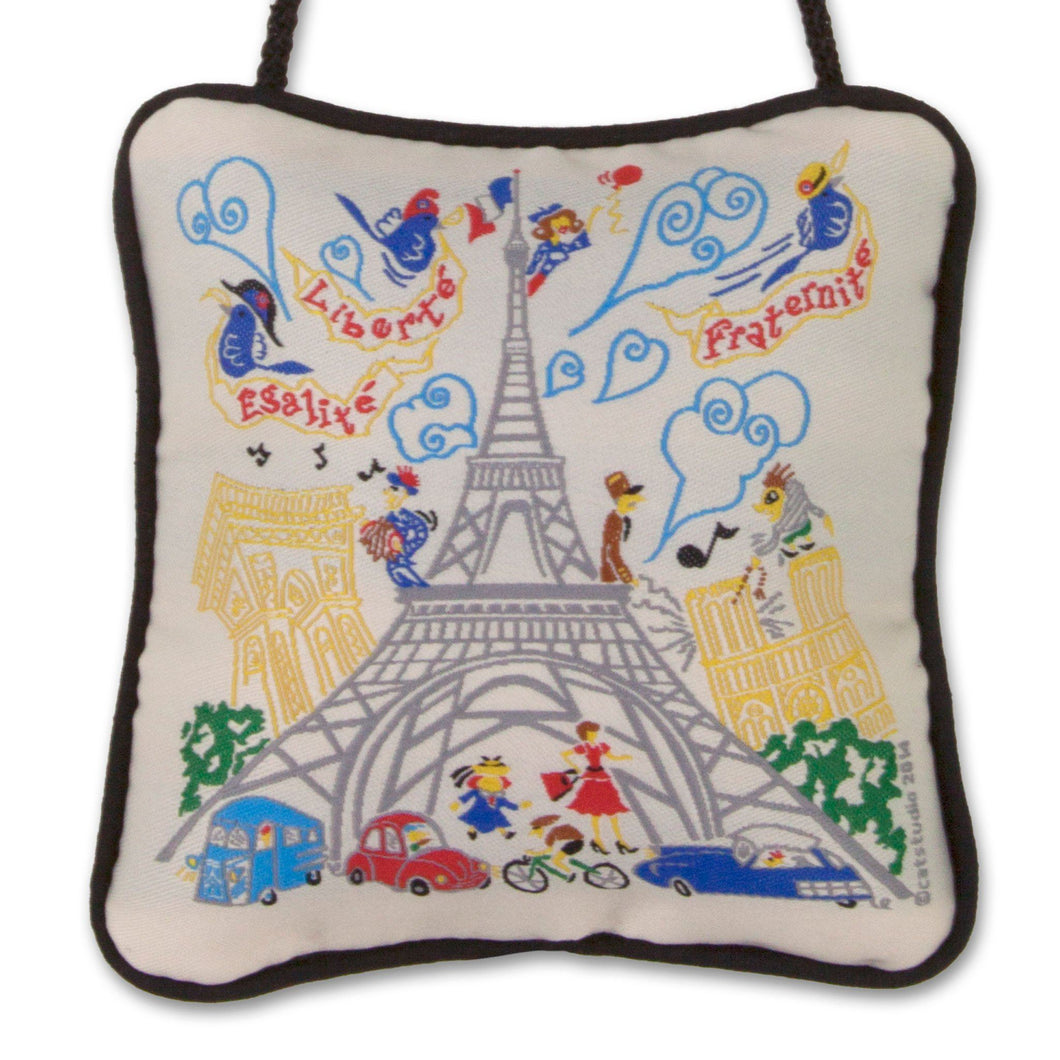 Eiffel Tower Mini Pillow Ornament - catstudio