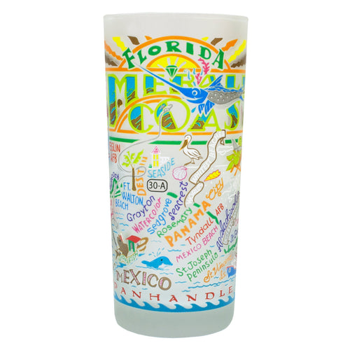 Emerald Coast Drinking Glass - catstudio