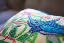 Load image into Gallery viewer, Emerald Coast Hand-Embroidered Pillow - catstudio