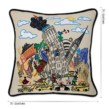 Load image into Gallery viewer, Empire State XL Hand-Embroidered Pillow - catstudio