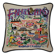 Load image into Gallery viewer, England Hand-Embroidered Pillow - catstudio
