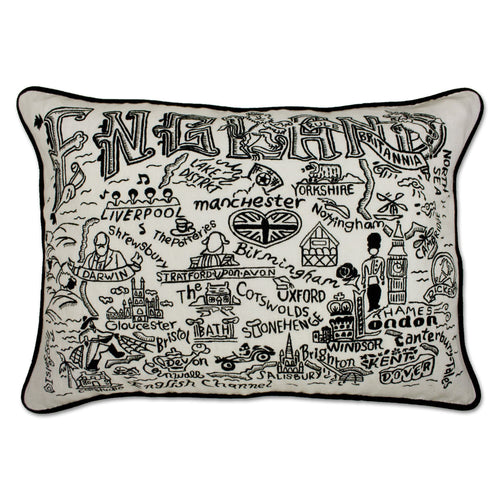 England Hand-Guided Machine Pillow - catstudio