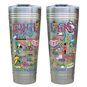 England Thermal Tumbler (Set of 4) - PREORDER Thermal Tumbler catstudio