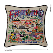 Load image into Gallery viewer, England XL Hand-Embroidered Pillow - catstudio