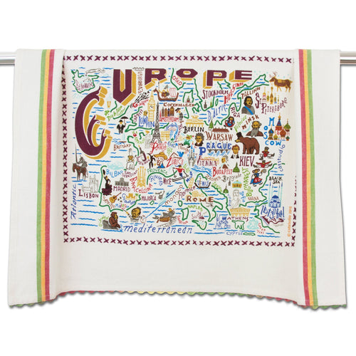 Europe Dish Towel - catstudio