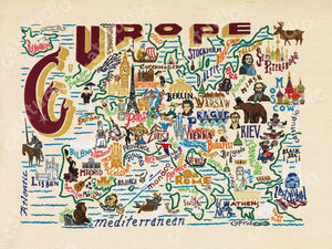 Europe Fine Art Print - catstudio