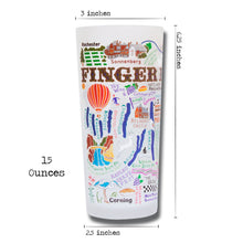 Load image into Gallery viewer, Finger Lakes Drinking Glass - catstudio