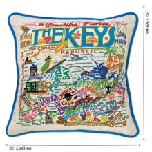 Load image into Gallery viewer, Florida Keys Hand-Embroidered Pillow - catstudio