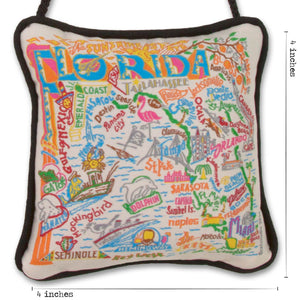 Florida Mini Pillow Ornament - catstudio