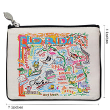 Load image into Gallery viewer, Florida Zip Pouch - Natural - catstudio