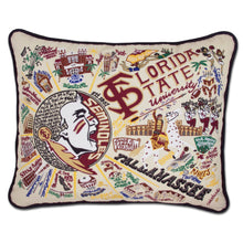 Load image into Gallery viewer, Florida State University Collegiate Embroidered Pillow - catstudio