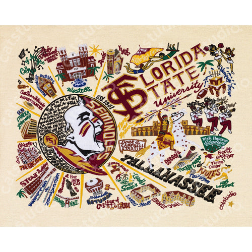 Florida State University Collegiate Fine Art Print - catstudio