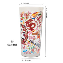 Load image into Gallery viewer, Florida State University Collegiate Drinking Glass - catstudio