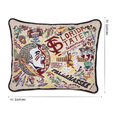 Load image into Gallery viewer, Florida State University Collegiate XL Hand-Embroidered Pillow - catstudio